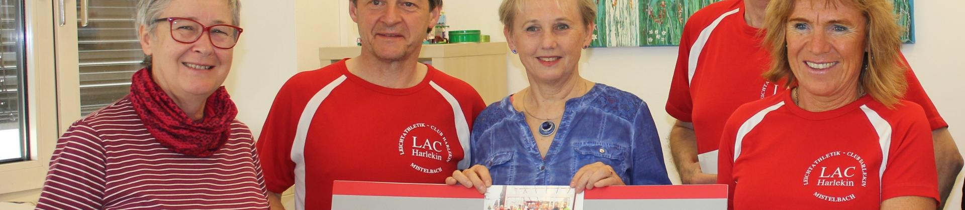 Charity Lauf des LAC Harlekin mit DSA Roswitha Tscherkassky-Koularas