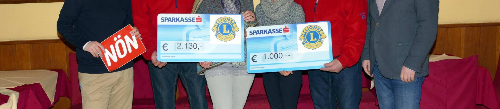 Spendenübergabe LIONS Club Mariandlschießen
