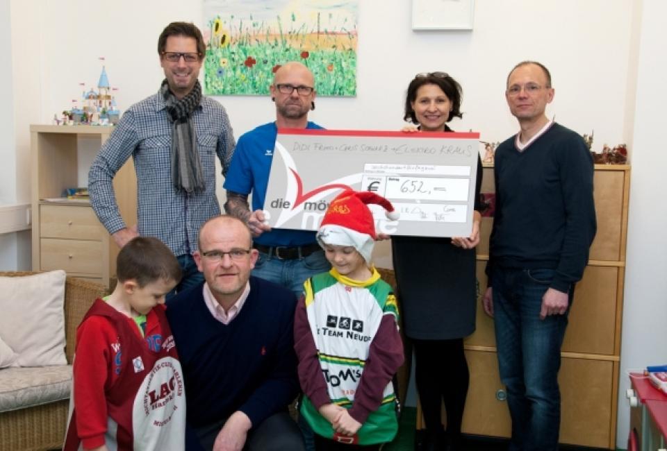 Scheckübergabe Charity Aktion Mistelbach