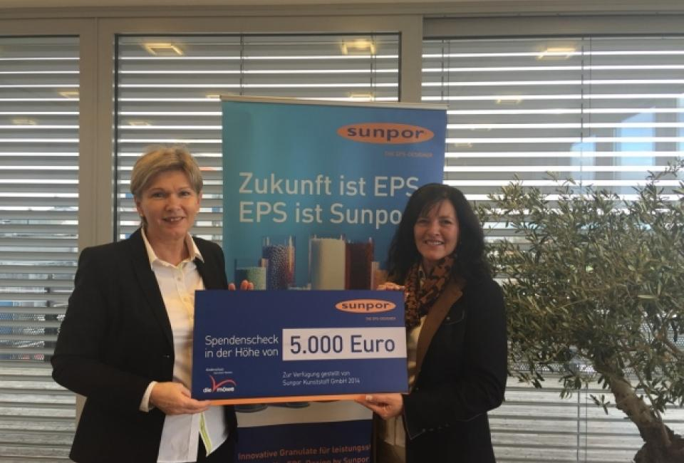 Scheckübergabe Firma Sunpor 2014