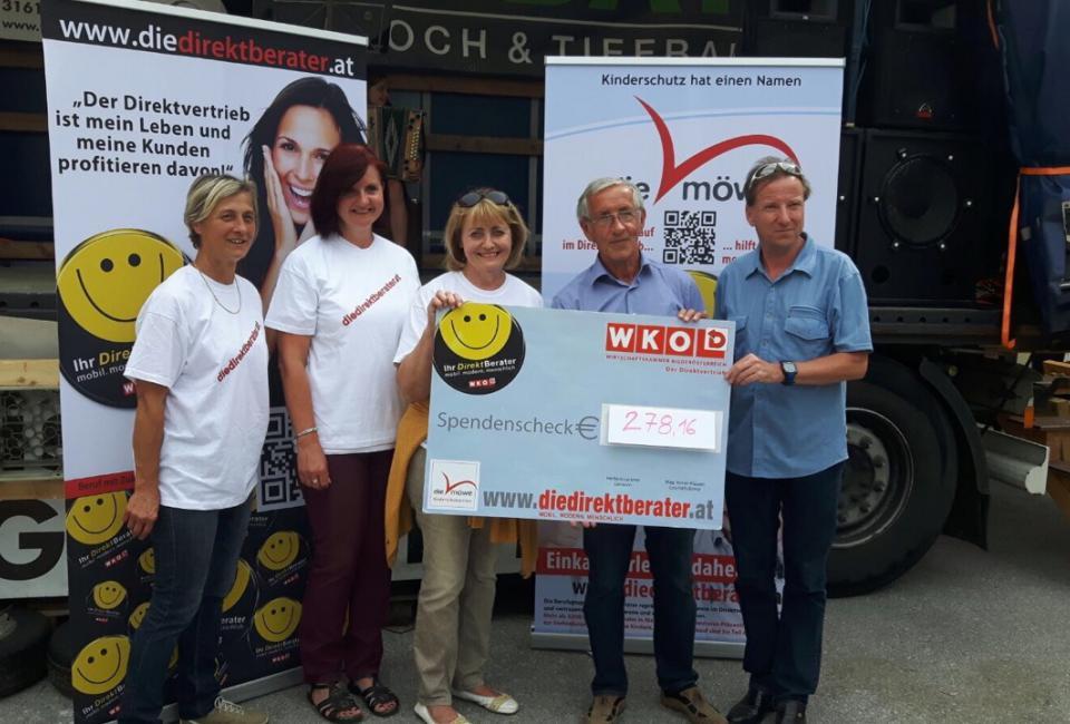 Scheckübergabe Box Challenge NMS St. Veit/Gölsen